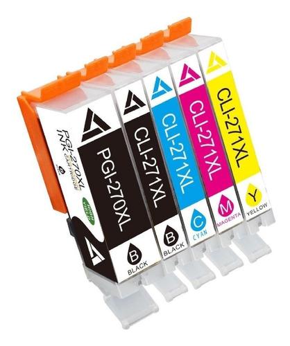 cartuchos compatible canon ts6020-pgi270-cli271. 5 colores