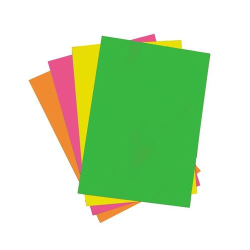 cartulina caballito fluo 50 x 70 cm 180 g - amarillo - mosca