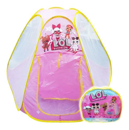casa grande lol p/niña infantil lona plegable + bolso el rey
