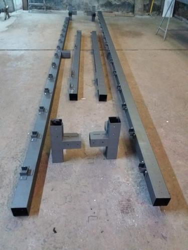 casa modular de isopanel desarmable, estructura de hierro.