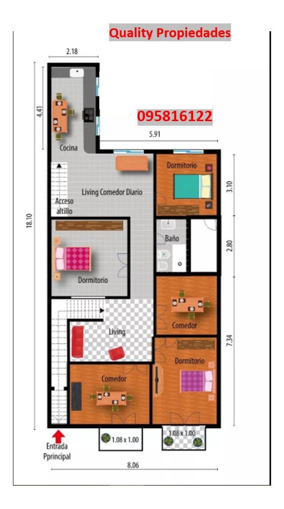 casa planta alta en venta