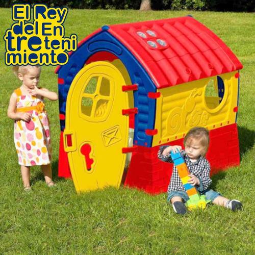 casa pvc grande p/ niño niña casita infantil plástico el rey