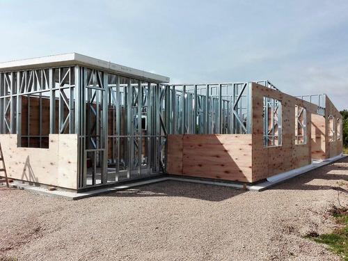 casas prefabricadas: steel framing, isopanel