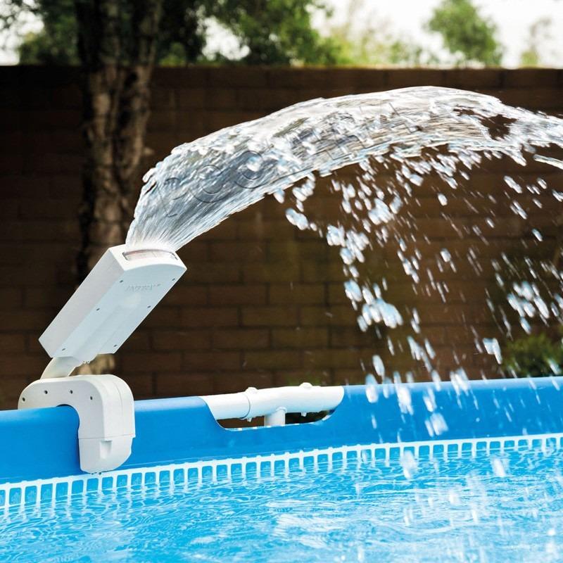 Cascada para piscina con luces led de color intex 1 for Accesorios para piscinas cascadas