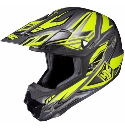 casco de moto motocross hjc cl-x6 fulcrum amarillo oferta
