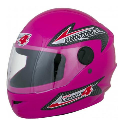 casco moto integral protork  new liberty four rosa t 60