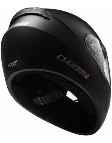 casco negro  integral  | ls2, modelo ff352, aprobados