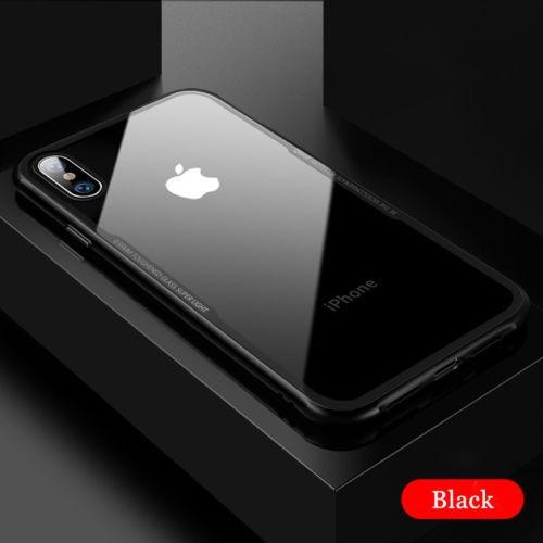 case iphone xs max hybrid bumper shockproof slim + vidrio