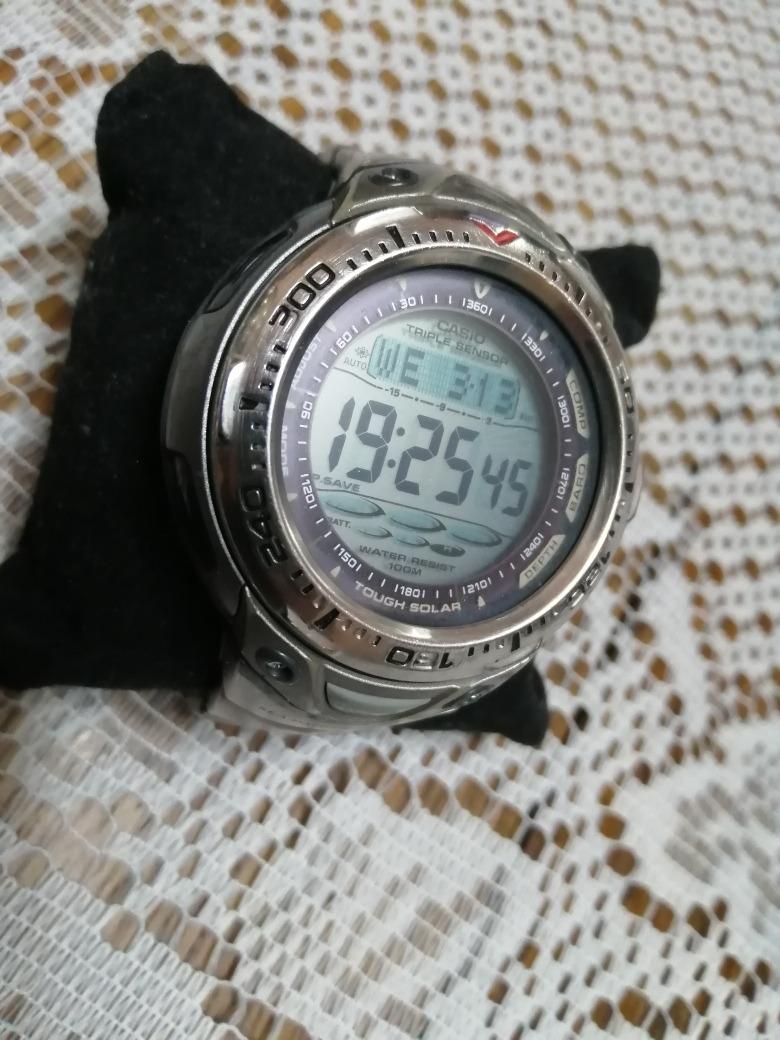 f777c44e0634 casio reloj sea pathfinder buceo solar triple sensor titanio. Cargando zoom.