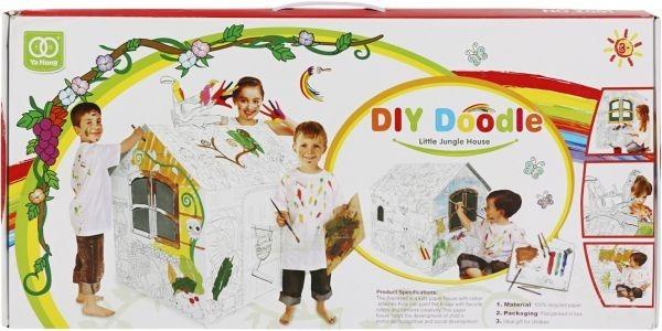 Casita Para Niños, Para Pintar Y Jugar Diy Doodle - $ 990,00 en ...