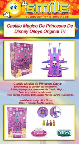 castillo magico princesas luz y musica ascensor  de ditoys