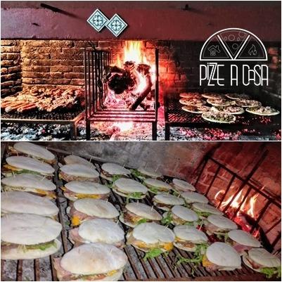catering de pizzas, calzone, chivitos y carnes a la parrilla