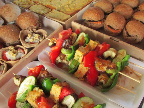 catering, lunch, vegano, vegetariano, integral. para 10.
