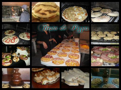 catering, pizzas, calzone, chivitos, servicio de lunch, etc.