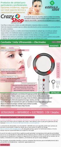 cavitador ultrasonido electrodos portatil masajeador 4 en 1