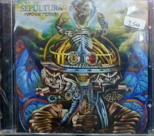 cd sepultura machine messiah nuevo, original sellado