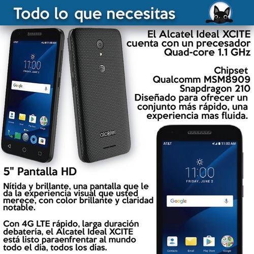 celular android alcatel ideal xcite 4g lte - black dog