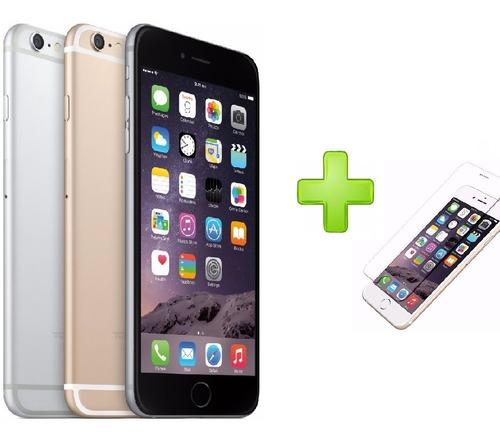 celular apple iphone 6 plus 16gb recertificado + vidrio