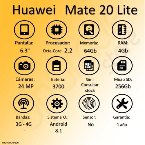 celular huawei mate 20 lite octa 2.2 4gb 64gb 6.3  | upgrade