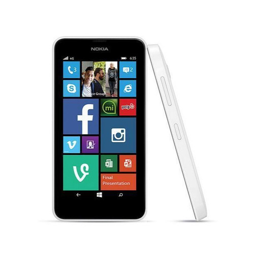 celular nokia lumia 635 white - quadcore/4.5 /5mp/fm