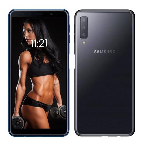 celular samsung a7 2018 4 y 64gb 3 camaras + regalo futuro21