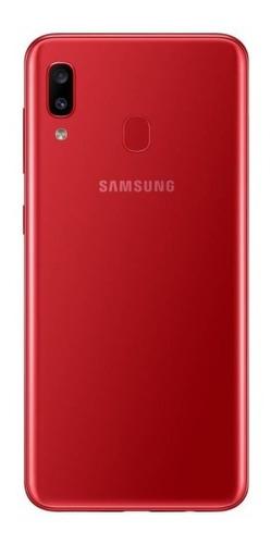 celular samsung galaxy a20 sm-a205g red 32gb 3gb d zonatecno