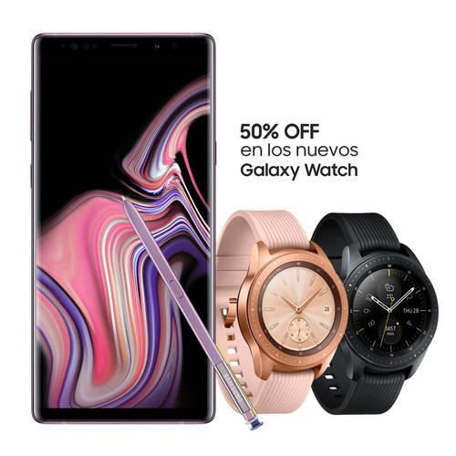 celular samsung galaxy note 9 128gb ds + galaxy watch 1.2'