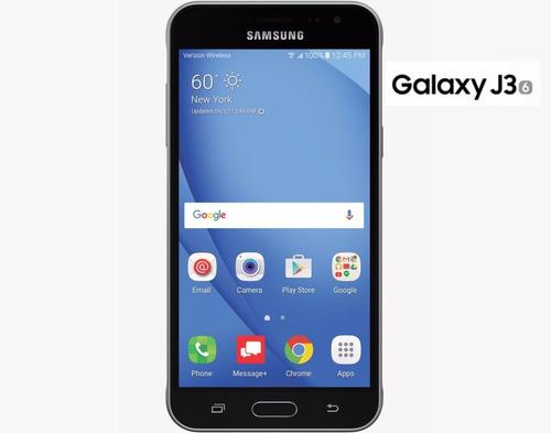 celular samsung j3 4g lte android 6 quad core negro gtia!