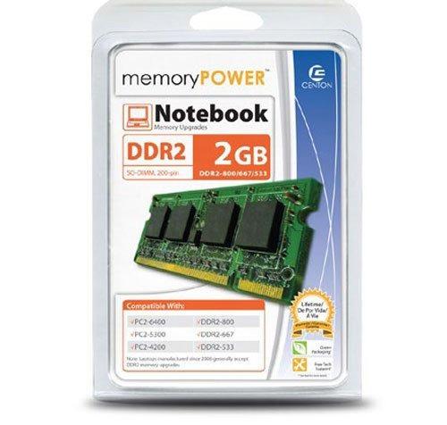 centon electronics 2 ddr2 800 (pc2 6400) memory 2gb800lt