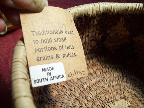 centro de mesa o adorno en ratan nuevo sud africano
