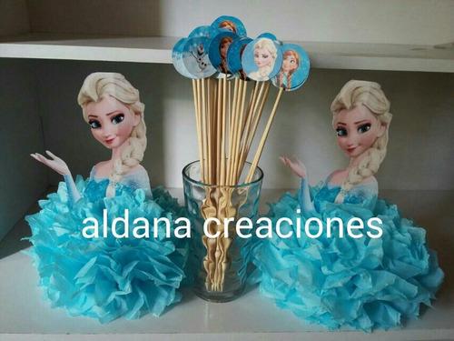 centros de mesas dulces cumpleaños souvenirs frozen mickey