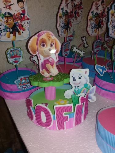 centros de torta cumpleaños mickey patrulla canina minnie