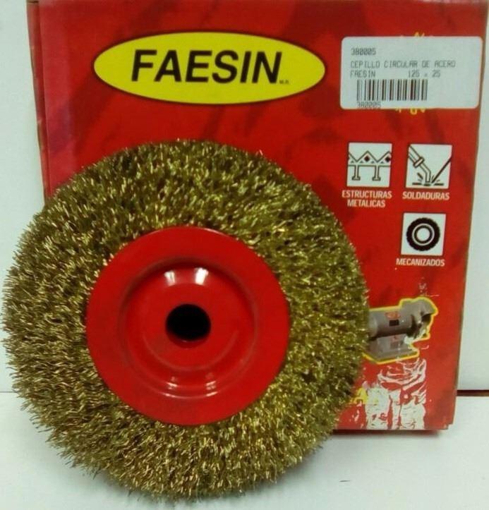 Cepillo Circular De Acero 125 X 25mm Faesin -   604 52b39ba1e763