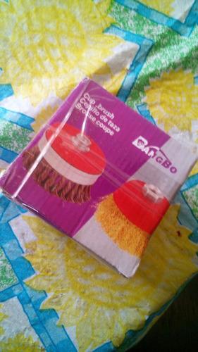 cepillos para usar en taladro muy practicos