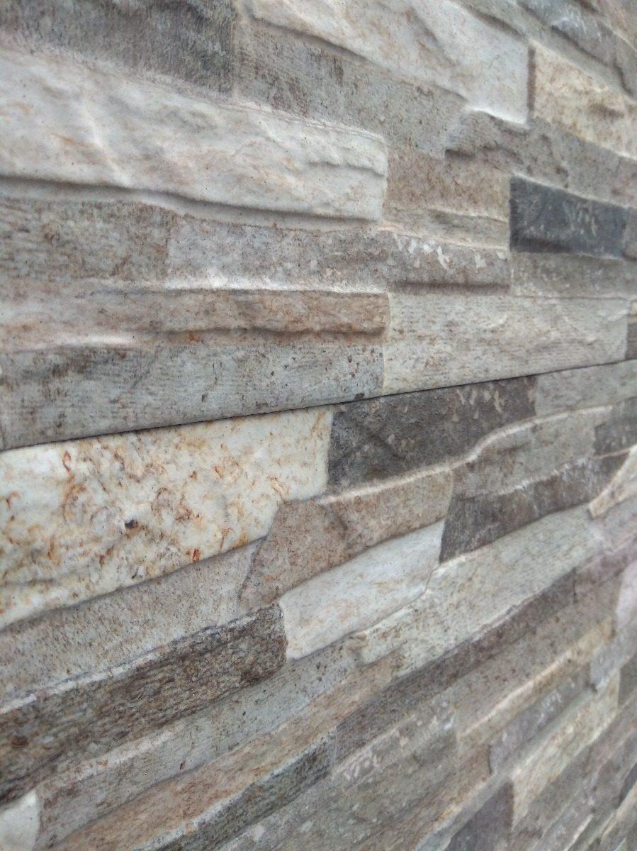 Ceramica imitacion piedra gris 30x50 cm 550 00 en mercado libre - Revestimiento paredes imitacion piedra ...