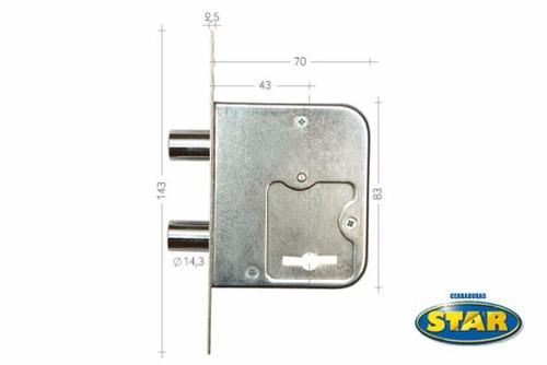 cerradura cerrojo de seguridad star 800 2 años de garantia!