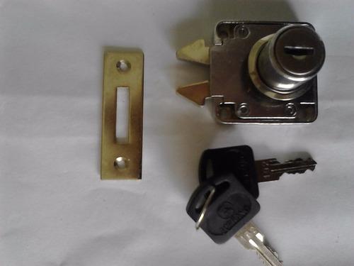 cerradura soprano c/cilindro para muebles
