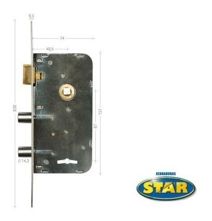 cerradura star 410 hn dos pernos /5 años de garantía/