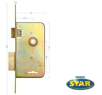 cerradura star 510 hierro zincado /5 años de garantía/