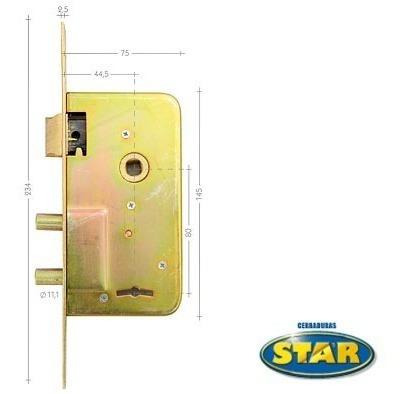 cerradura star 510 s hierro zincado /5 años de garantía/