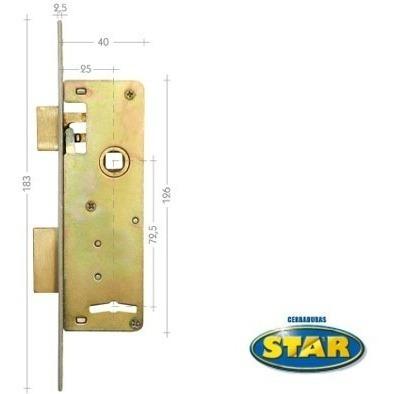 cerradura star 720 hierro niquelado /5 años de garantía/