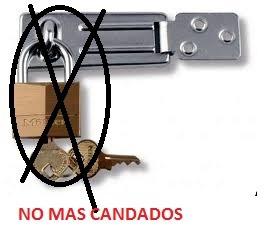 cerradura tipo portacandado de 4  con 2 llaves