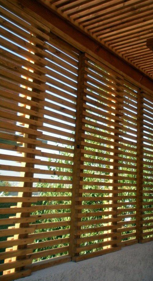 Cerramiento cerca madera paredes corta viento oculta rejas en mercado libre - Paredes en madera ...