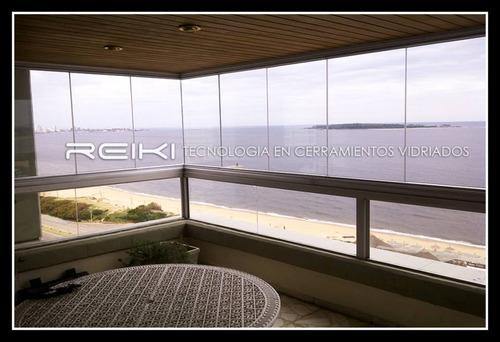 cerramiento vidriado reiki  100% apertura barbacoa / terraza