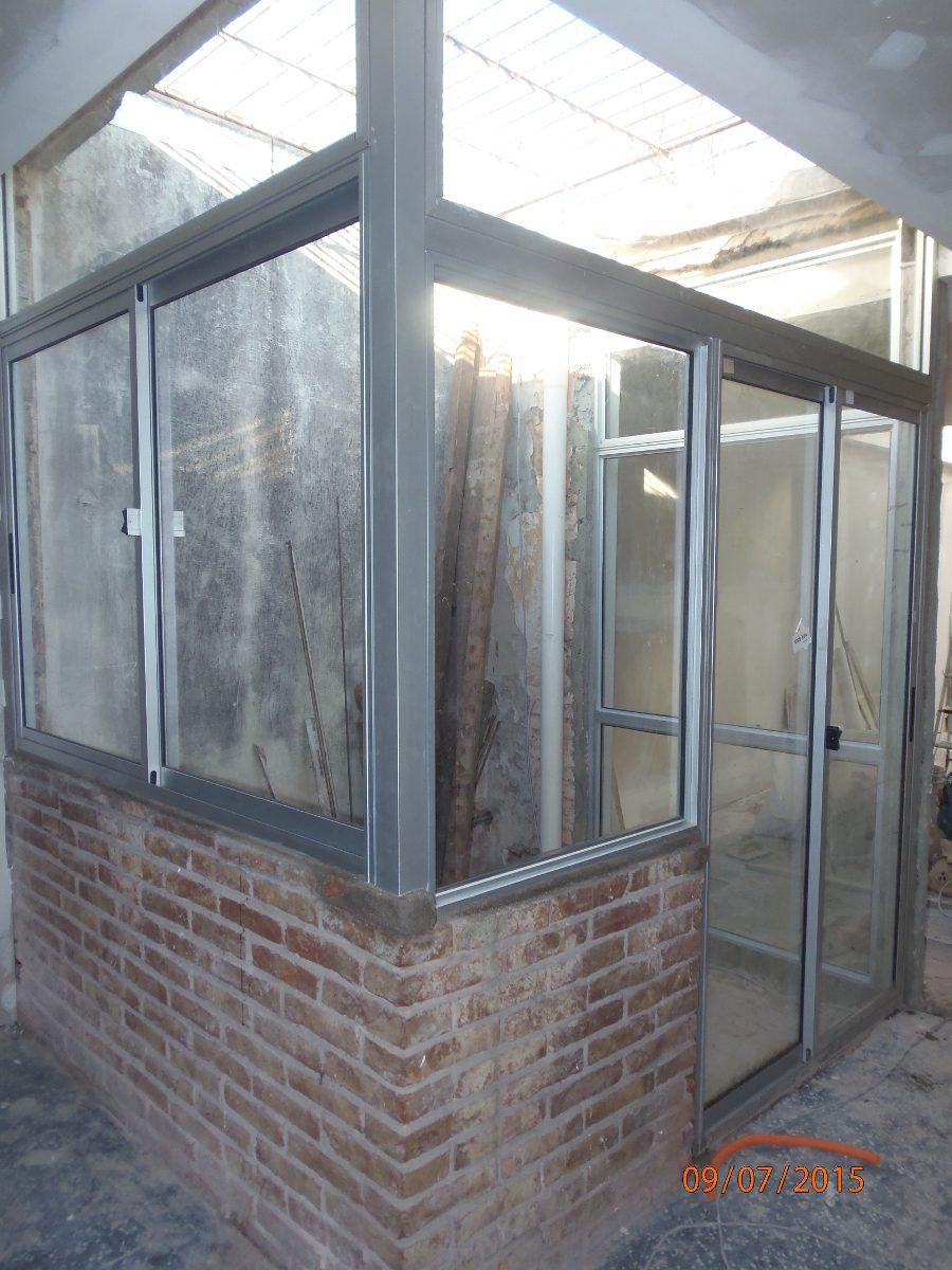 Cerramientos aluminio hierro barbacoas techos policarbonato 400 00 en mercado libre - Cerramiento de aluminio ...