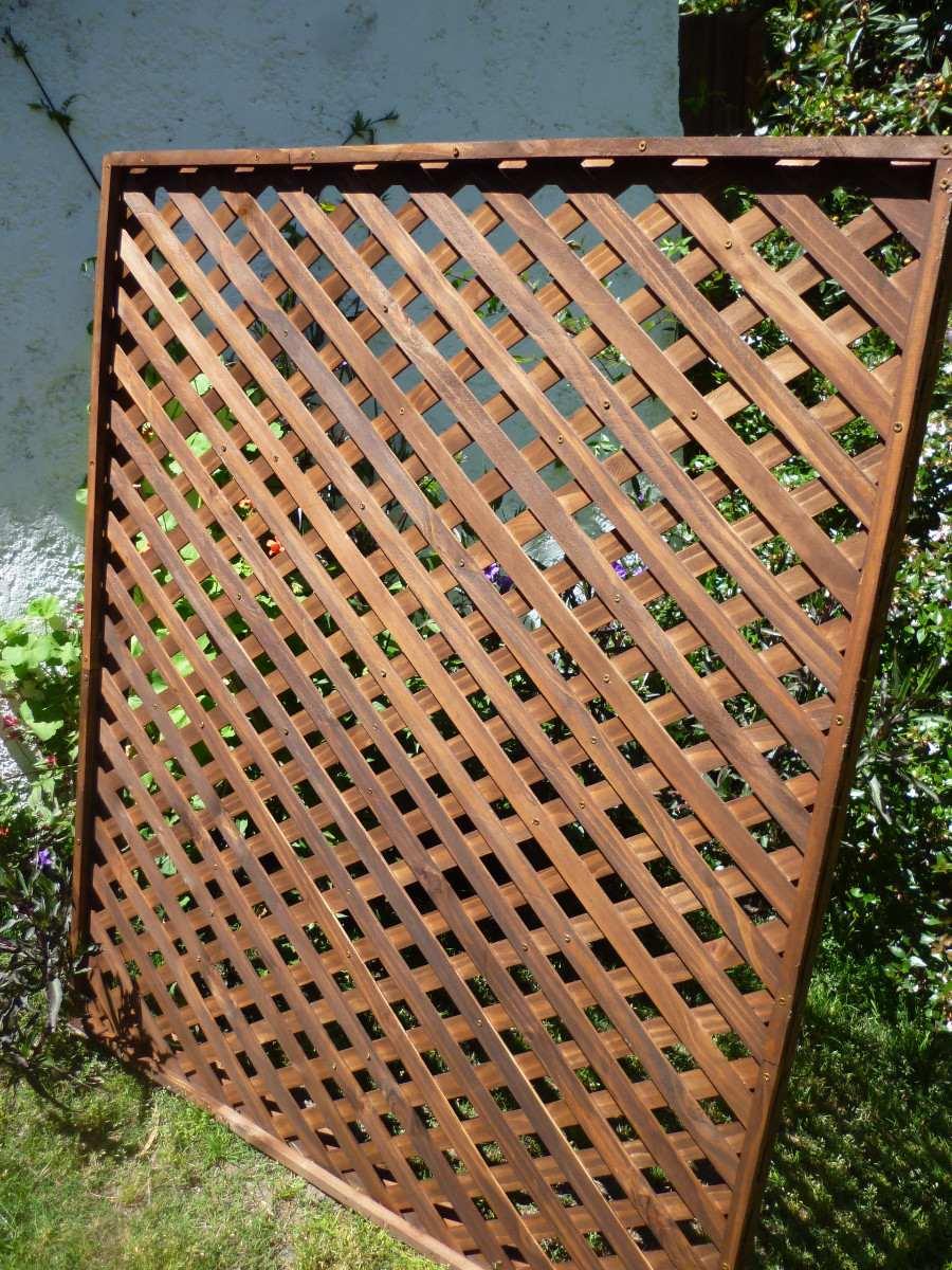 Cerramientos cercas cercos perimetrales madera treillage en mercado libre Cerramientos de madera para jardin