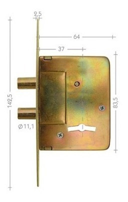 cerrojo star 200-s hierro zincado /5 años de garantía/