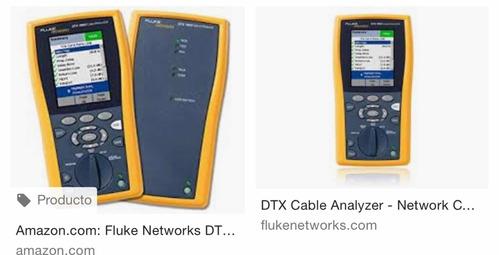 certificacion de redes fluke dtx 1800