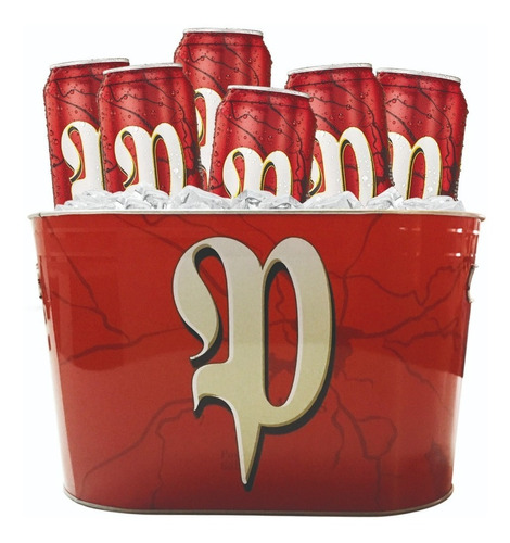 cerveza patricia pack 6 latas 473 cc + balde