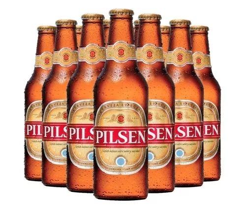 cerveza pilsen 330 ml pack 24 botellas san nicolas